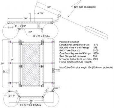 Raft frame, Cataraft, Cataraft frame, Rowframe, and